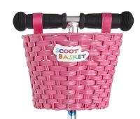 Scoot Cesta Rosa - Cesta para colgar del manillar de tu patinete Micro
