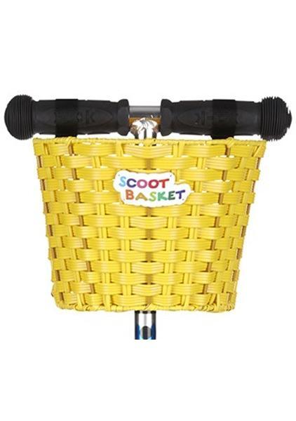 Scoot Cesta Amarilla - Cesta para colgar del manillar de tu patinete Micro