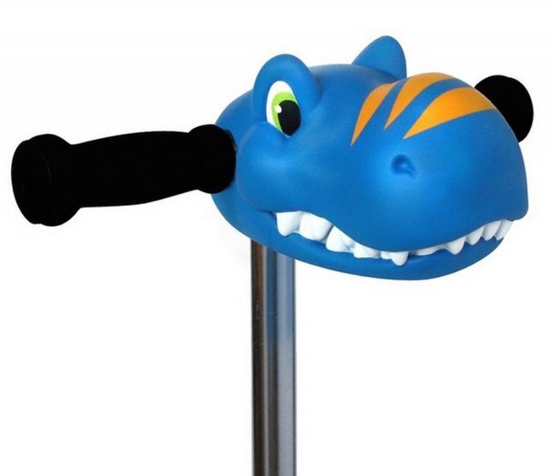 Cabeza Dino Azul - Accesorio para el manillar de tu patinete Micro.
