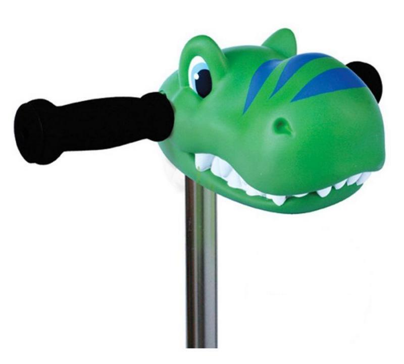 Cabeza Dino Verde - Accesorio para el manillar de tu patinete Micro.