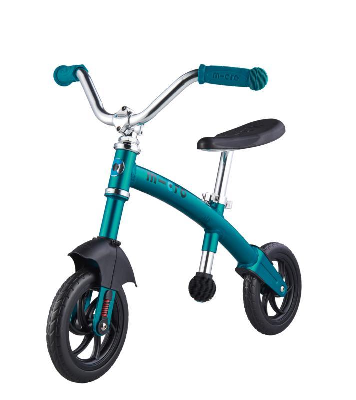 G-BIKE Chopper Aqua - La bicicleta de balanceo mas guay con la que los más pequeños podrán desarrollar su equilibrio y balanceo sobre 2 ruedas. La nueva G-Bike Chopper Deluxe incorpora una suspension delantera que asegura una conduccion mas suave sobre cualquier superficie.