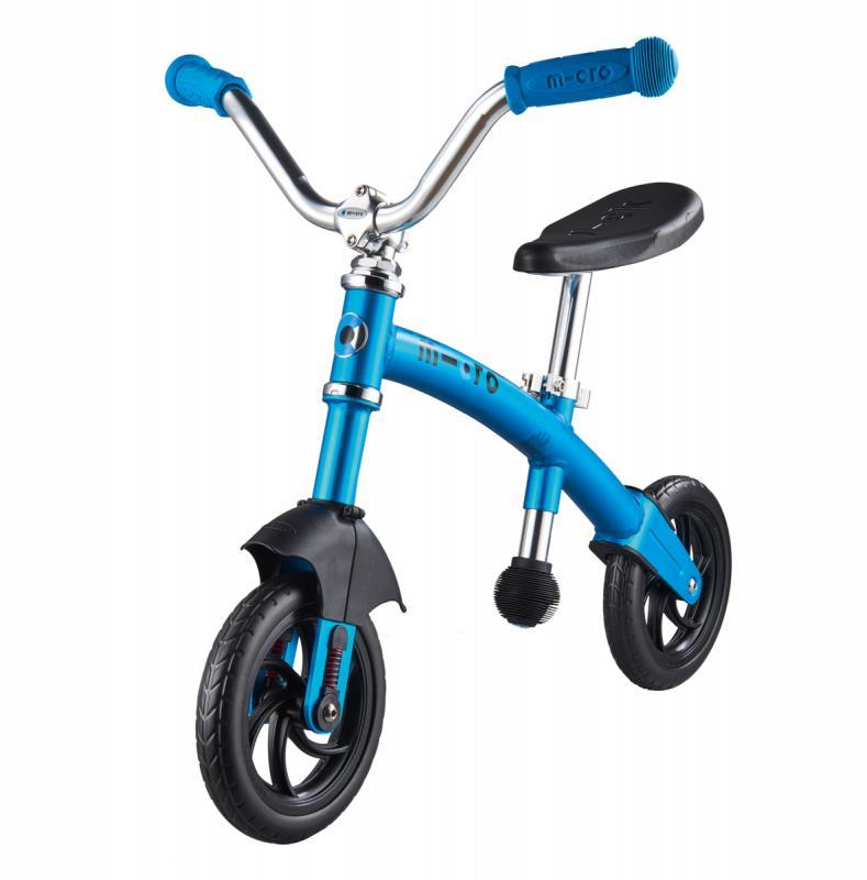 G-BIKE Chopper Azul - La bicicleta de balanceo mas guay con la que los más pequeños podrán desarrollar su equilibrio y balanceo sobre 2 ruedas. La nueva G-Bike Chopper Deluxe incorpora una suspension delantera que asegura una conduccion mas suave sobre cualquier superficie.