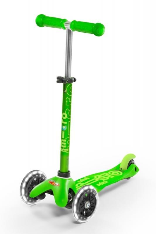 MINI-MICRO DELUXE VERDE LED - Deluxe Verde con ruedas de LED