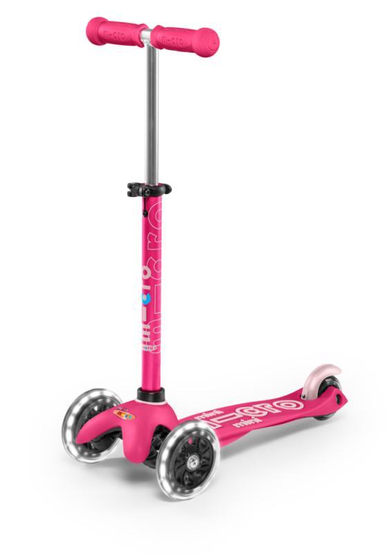 MINI MICRO DELUXE ROSA LED - Deluxe Rosa con ruedas de LED