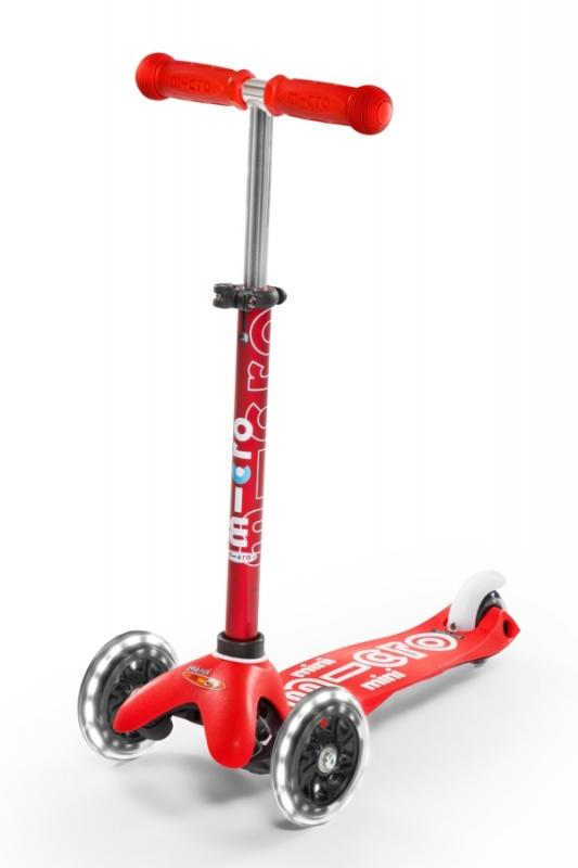 MINI-MICRO DELUXE ROJO LED - Deluxe Rojo con ruedas de LED