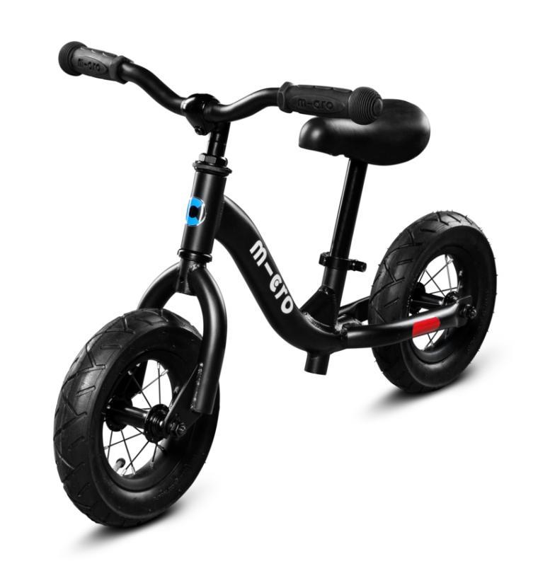 Micro Balance Bike Negra - La bicicleta de balanceo mas guay con la que los más pequeños podrán desarrollar su equilibrio y balanceo sobre 2 ruedas.