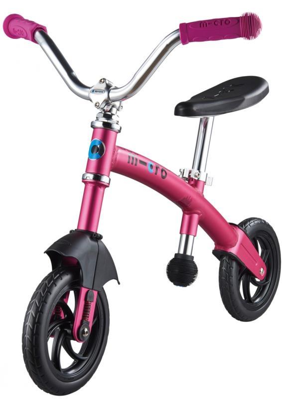 G-BIKE Chopper Rosa - La bicicleta de balanceo mas guay con la que los más pequeños podrán desarrollar su equilibrio y balanceo sobre 2 ruedas. La nueva G-Bike Chopper Deluxe incorpora una suspension delantera que asegura una conduccion mas suave sobre cualquier superficie.