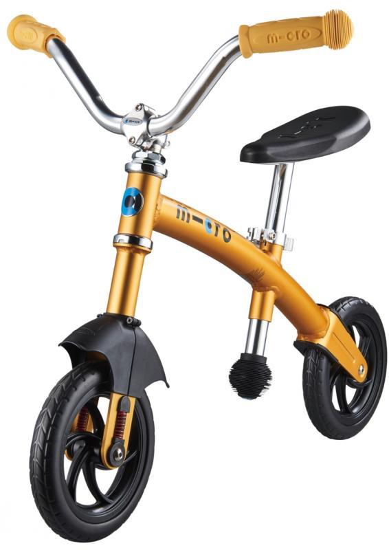 G-BIKE Chopper Amarilla - La bicicleta de balanceo mas guay con la que los más pequeños podrán desarrollar su equilibrio y balanceo sobre 2 ruedas. La nueva G-Bike Chopper Deluxe incorpora una suspension delantera que asegura una conduccion mas suave sobre cualquier superficie.