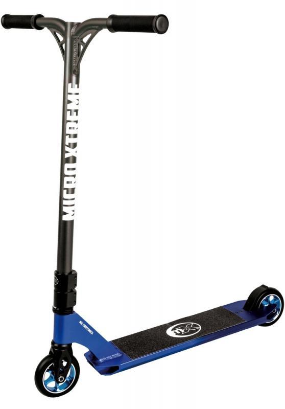 MX Crossneck XL Azul Metalizado - Patinete de Saltos para Riders Semipro y Pro. Calidad suiza al mejor precio!!