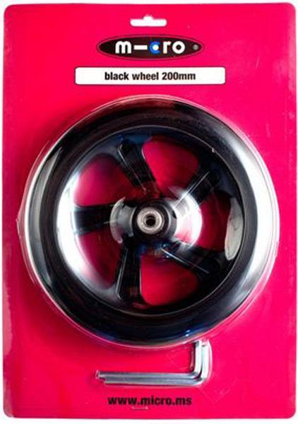 Rueda Micro Black 200mm - Rueda de PU 200mm para gama Micro y Flex