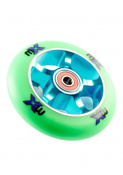 Rueda 100mm MX Azul/Verde -