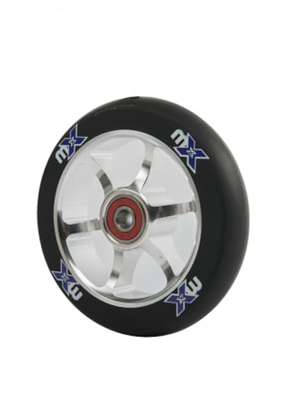 Rueda 110mm MX Cromada/Negra -