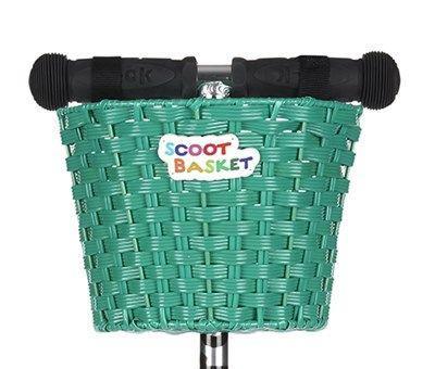 Scoot Cesta Verde - Cesta para colgar del manillar de tu patinete Micro