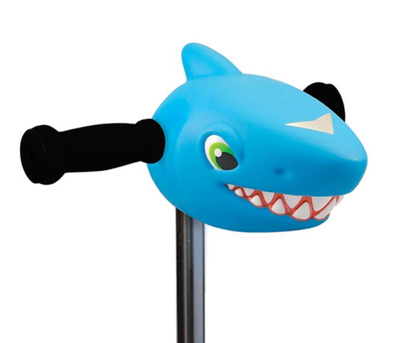 Cabeza Tiburon Azul - Accesorio para el manillar de tu patinete Micro.