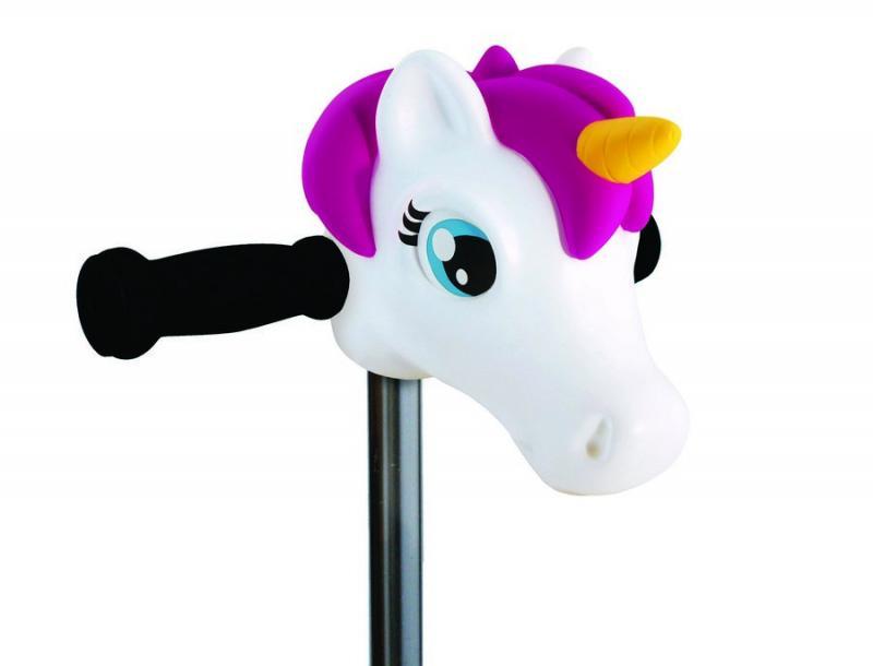 Cabeza Unicornio Blanco - Accesorio para el manillar de tu patinete Micro.