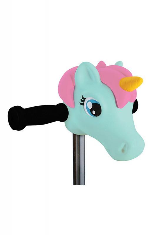 Cabeza Unicornio Menta - Accesorio para el manillar de tu patinete Micro.