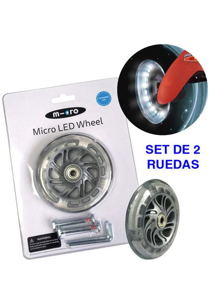 Rueda LED Mini Micro 120mm - Rueda con LED de PU 120mm para los modelos MINI Micro