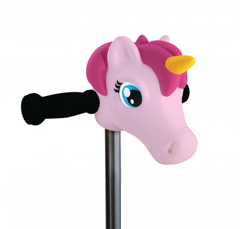 Cabeza Unicornio Rosa - Accesorio para el manillar de tu patinete Micro.