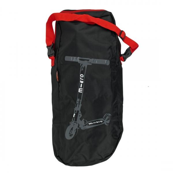 MICRO BAG - Bolsa porta-patinetes negra y roja