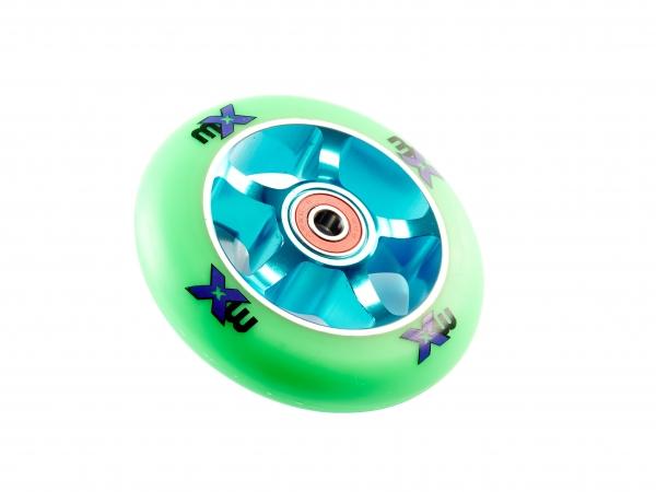 Rueda 100mm MX Azul/Verde -